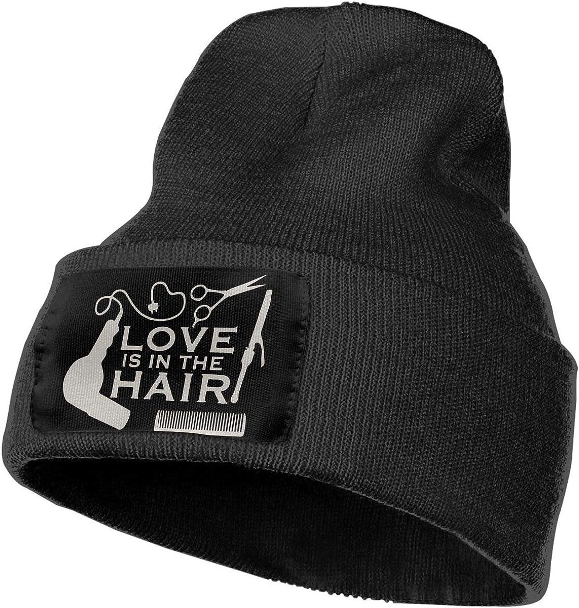 Unisex Barber Salon Hairdresser Love Outdoor Fashion Knit Beanies Hat Soft Winter Skull Caps