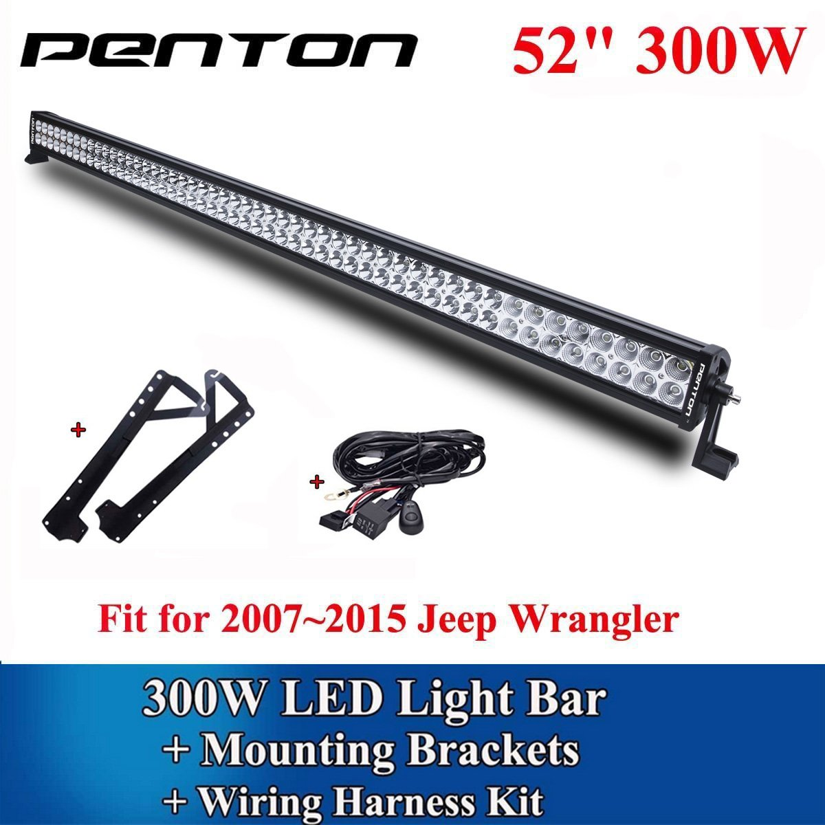 ... 54 Inch LED Driving Work Light Bar Off Road Truck DC 10-30V Input Flood  Spot Combo Beam for 4wd SUV UTE Offroad Truck ATV UTV with Wiring Harness  and ...