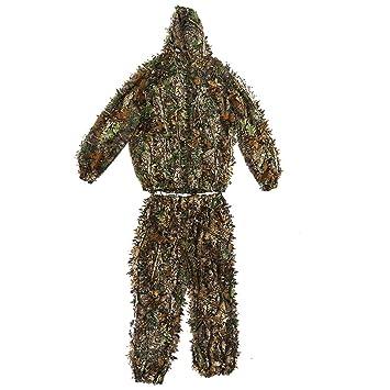 Asixx Ghillie Suit 3D, Traje de Camuflaje para Caza, 3D Traje de Camuflaje Caza