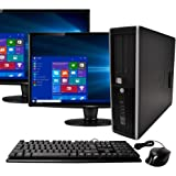 HP Elite Desktop Computer, Intel Core i5 3.1GHz, 8GB RAM, 1TB SATA HDD, Keyboard & Mouse, Wi-Fi, Dual 19in LCD Monitors…