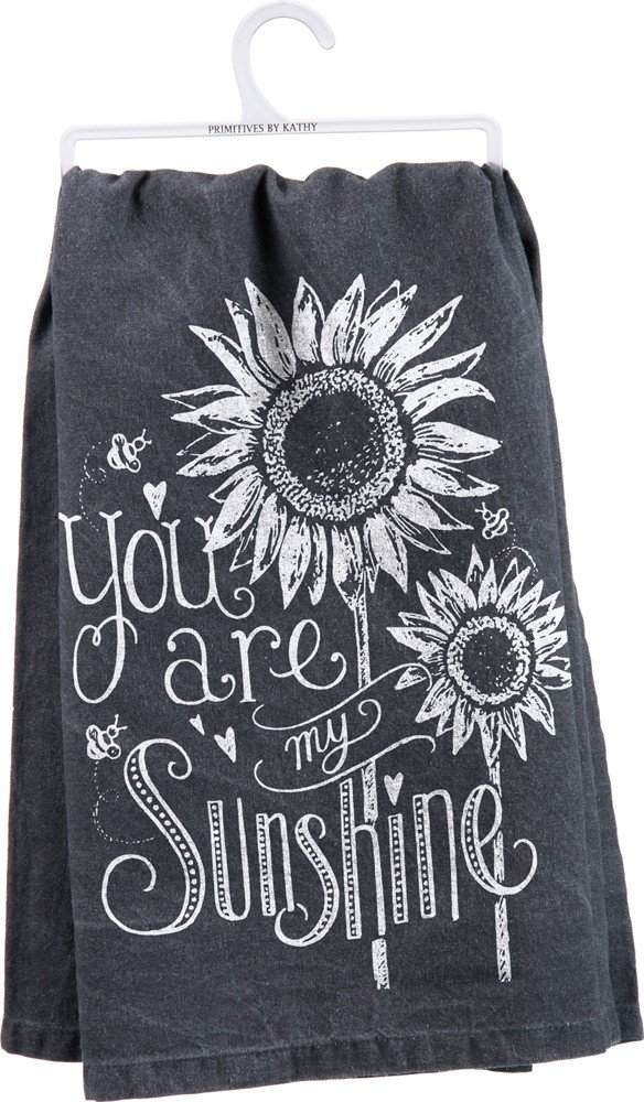 "Primitives by Kathy 26885 Chalk Dish Towel, 28"" x 28"", You Are My Sunshine"