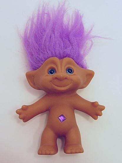 amazon com ace novelty purple hair treasure troll with purple