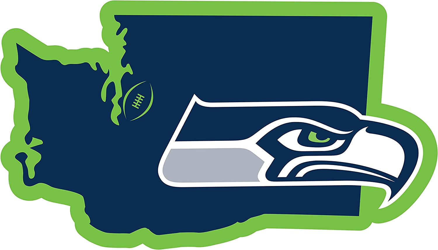 NFL Siskiyou Sports Fan Shop Seattle Seahawks Home State 11 Inch Magnet One Size Team Color