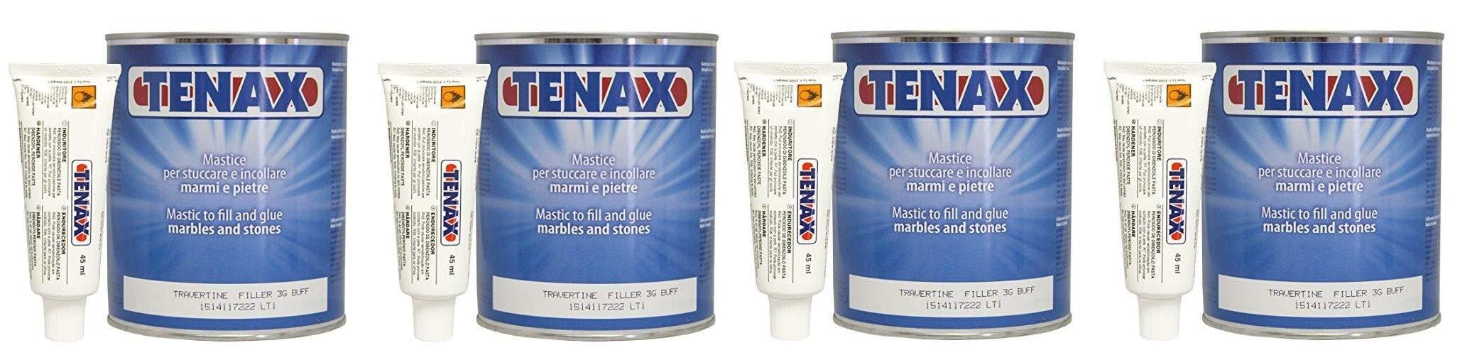 Tenax Travertine Filler - 1 liter (Pack of 4)