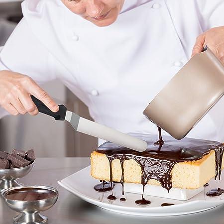Herramienta de hielo en acero inoxidable para tortas Juego de 3 en 3 con mango de polipropileno (6 8 10 pulgadas de largo): Amazon.es: Hogar