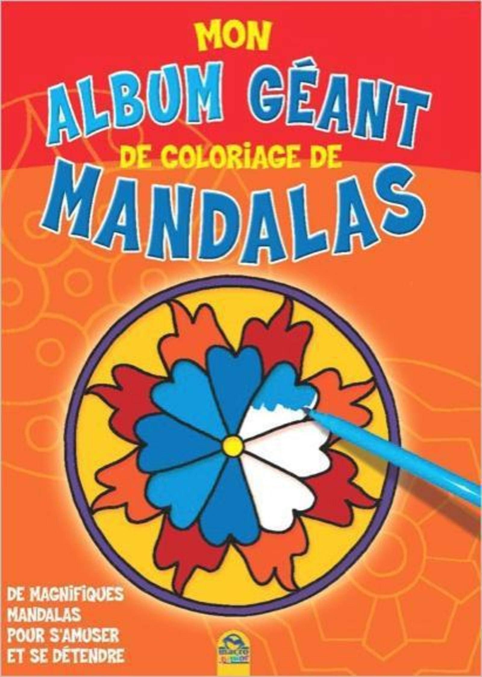 Coloriage Mandala Geant.Mon Album Geant De Coloriage De Mandalas Macro Editions