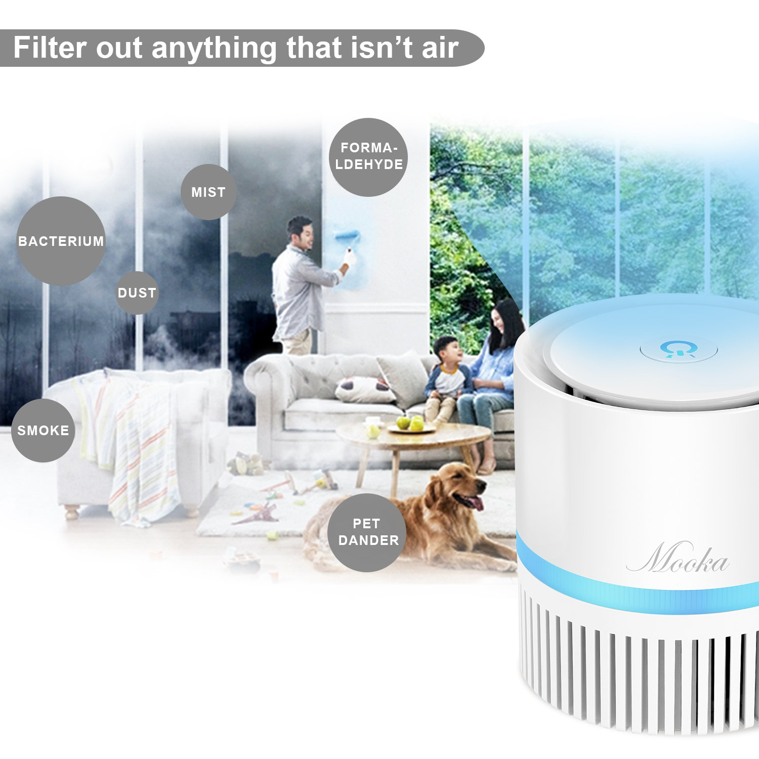 Amazon Air Purifier Mooka pact Air Cleaner with True HEPA