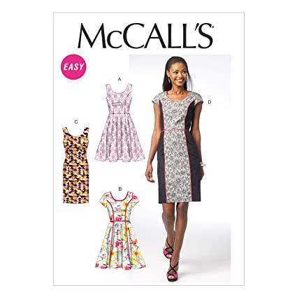 43f08a2771a Amazon.com  McCall Pattern Company M6887 Misses  Dresses Sewing Template