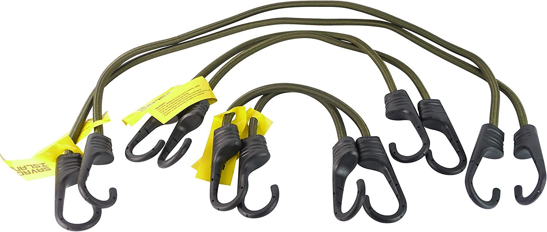 Savage Island Pack Cuerdas el/ásticas reforzadas con Ganchos Recubiertos de pl/ástico 2 x 30cm 2 x 75cm 2 x 45cm