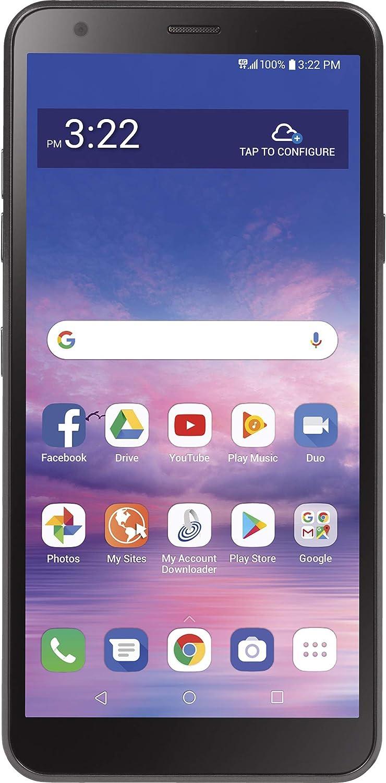 TracFone LG Journey 4G LTE Prepaid Smartphone (Locked) - Black - 32GB - SIM Card Included - CDMA - Fustration Free Packaging