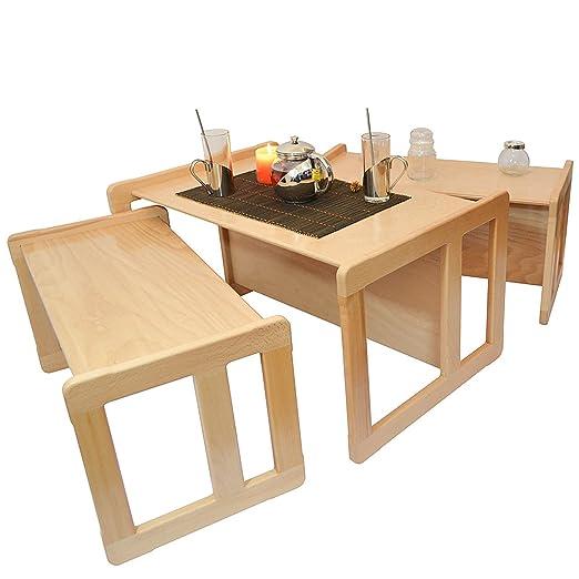 Obique 3 en 1 Nido de 3 Mesas de Café para Adultos o Mueble para Niños