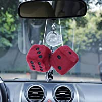 WINOMO rojo colgante dados encanto Auto coche Espejo