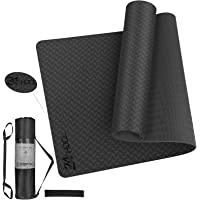 24HOCL Yoga Mat Non Slip, Eco Friendly Pro Exercise Mat with Carrying Strap Storage Bag and Headband for All Types of…