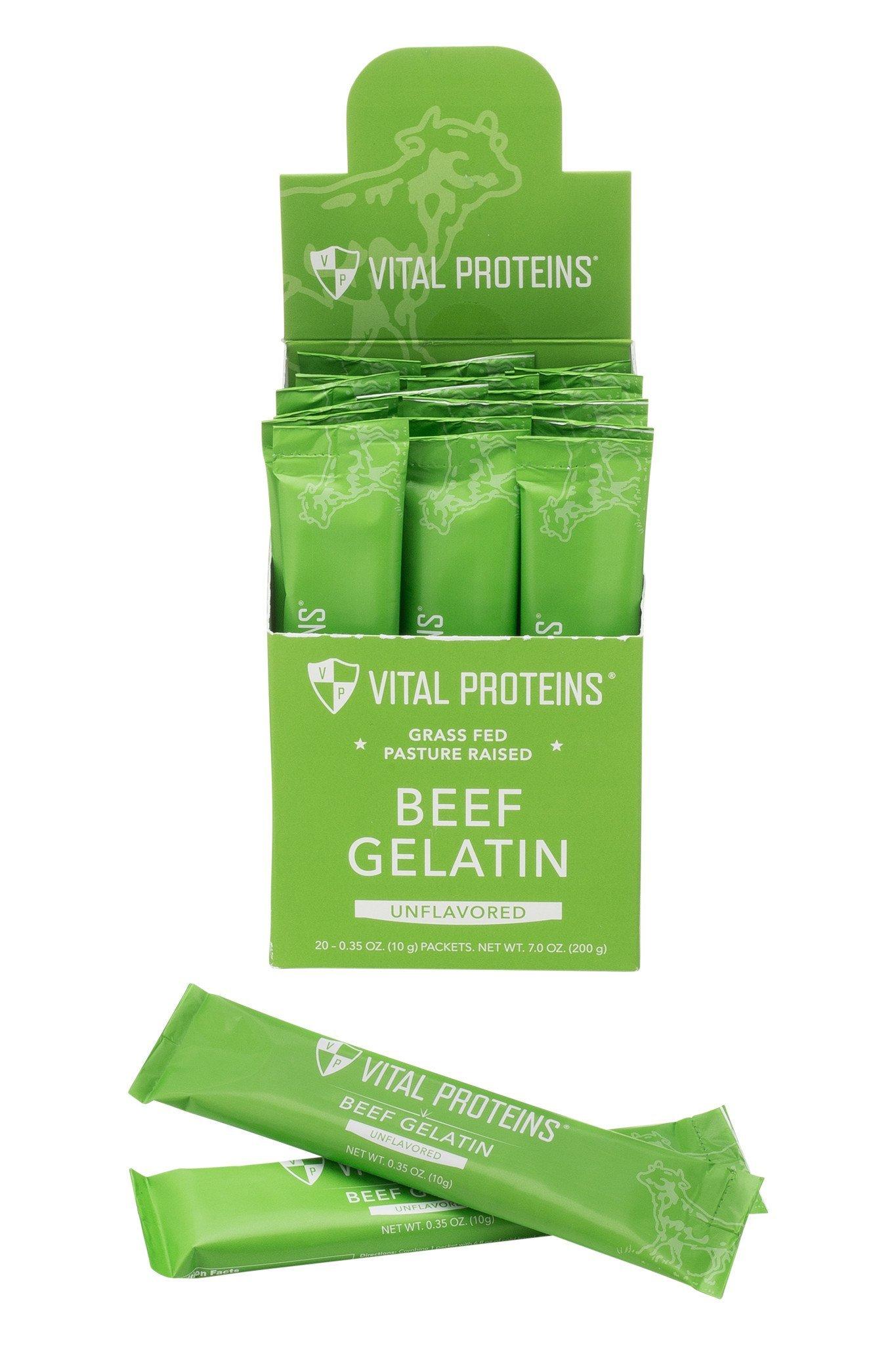 Vital Proteins Collagen Protein, Pasture-Raised, Grass-Fed, Non-GMO, Beef Gelatin (20ct)