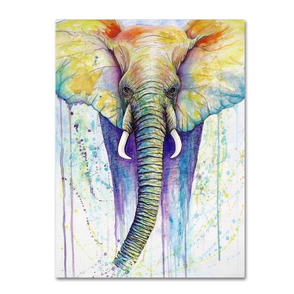 Elephant Colors by Michelle Faber、35 x 47-inchキャンバス壁アート B075SS81LT