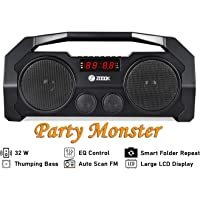 Zoook Rocker Boombox+ 32W Bluetooth Party Speaker with FM/USB/TF/Display/Handsfree Calling (Black)