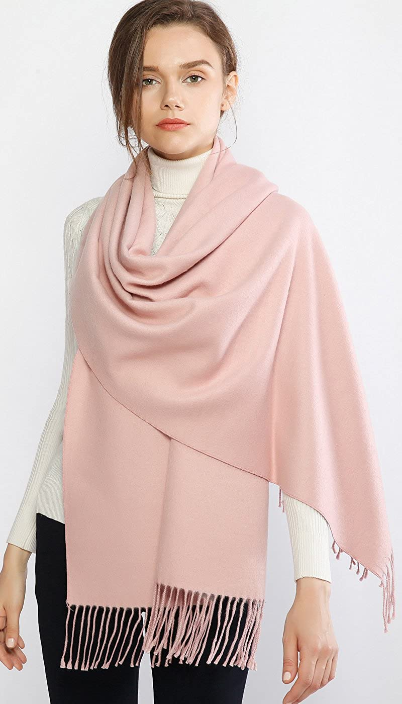 RIIQIICHY Winter Scarf Pashmina Shawl Wrap for Women Long Large Warm Thick Reversible Scarves