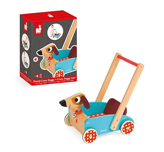 Amazon.com: Janod Crazy Doggy Cart: Toys & Games