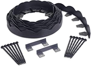 EasyFlex 3210E-40C Scallop No-Dig Landscape Edging, 40', Black