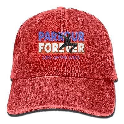 Men Women Parkour Forever Adjustable Vintage Baseball Caps Washed Cowboy Dyed Denim Hat Unisex