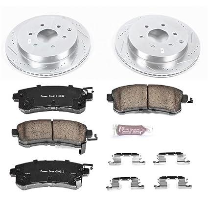 Power Stop K4583 Rear Brake Kit with Drilled//Slotted Brake Rotors and Z23 Evolution Ceramic Brake Pads