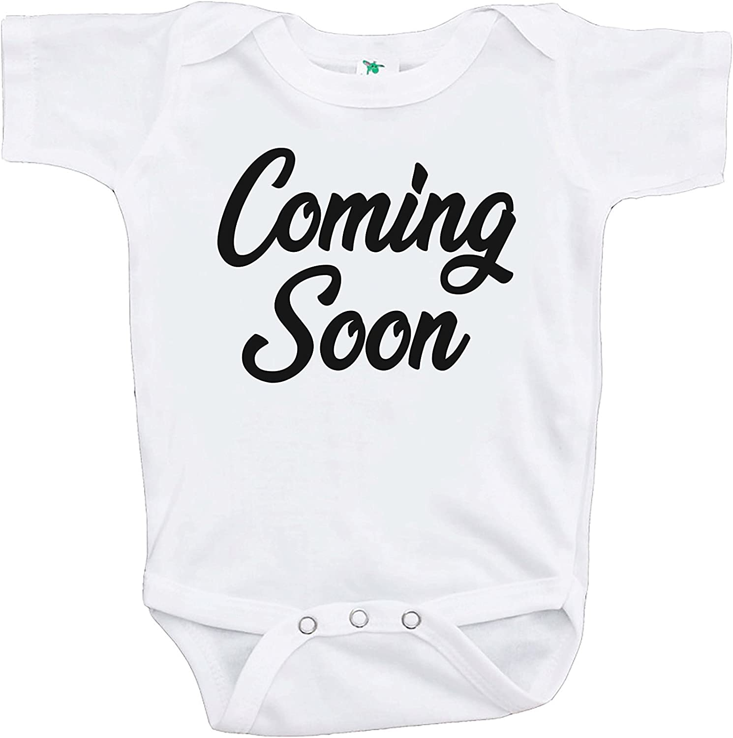 Announcement Family Husband Reveal Cute Baby One Piece Cotton Suit Romper Newborn-24 Months Coming Soon