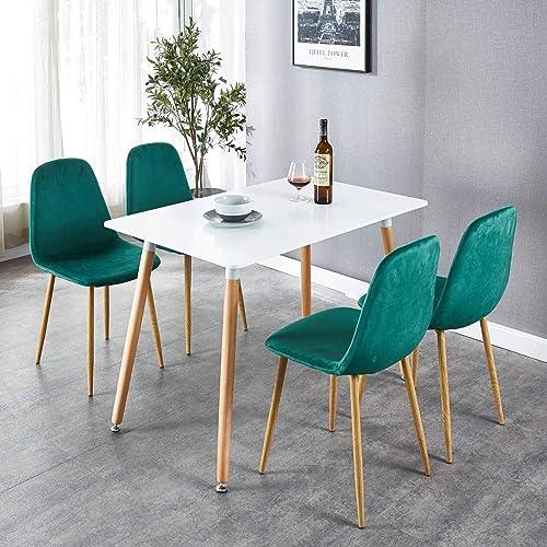 OKAKOPA 43.3″ 5 Piece Dining Table Set