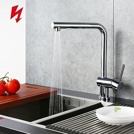 Homelody 360° drehbar Küchenarmatur Niederdruck ausziehbar ...