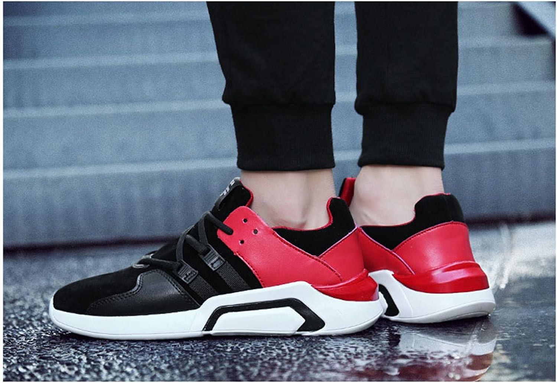 Homme Skateboard Chaussure Sneakers Mocassin Baskets Casuel Loisir Multisports Outdoor Randonée Jogging Mode Léger Antichoc Antidéparant 39-44 Basse Noir Rouge