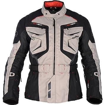 Oxford Ankara largo impermeable chaqueta de Moto textil gris ...