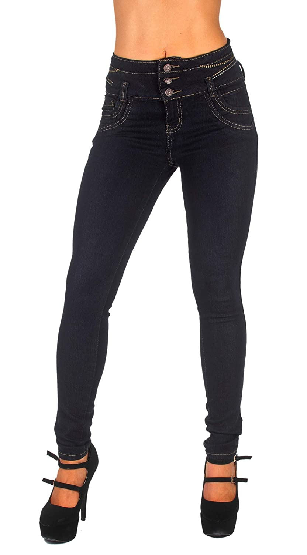 Levanta Cola Colombian Design Butt Lift High Waist Skinny Jeans