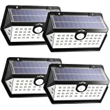 LITOM Solar Lights Outdoor, 40 LED Wireless Wide Angle Motion Sensor Light, IP65 Waterproof Security Solar Light, Three Working Modes for Front Door, Yard, Garage, Deck, Porch, Shed, Walkway (4 Pack)