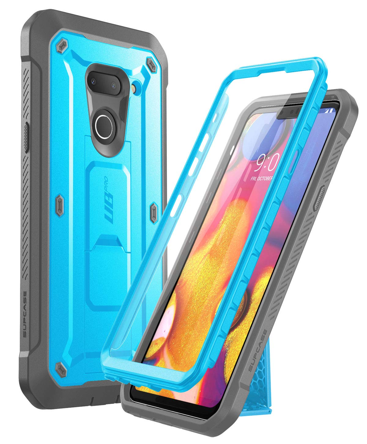 SUPCASE Unicorn Beetle Pro Series Designed for LG G8 Case & LG G8 ThinQ Case(2019 Release) Full-Body Rugged Holster Case with Built-in Screen Protector (Blue)