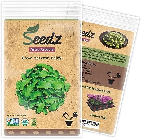 Astro Arugula excellent variety mild flavor good producer 250 seeds