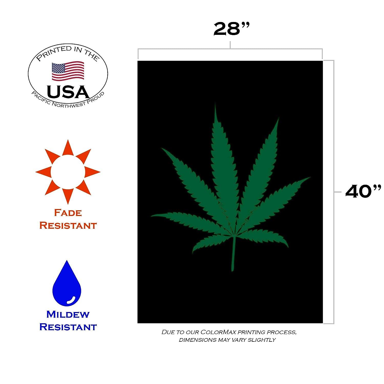 Toland Home Garden Flying High Decor Marihuana Unkrautblatt Gr/ün Garden-Small-12.5x18-Inch