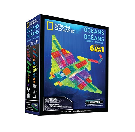 Amazon.com: Laser Pegs National Geographic Oceans Building Kit: Toys & Games