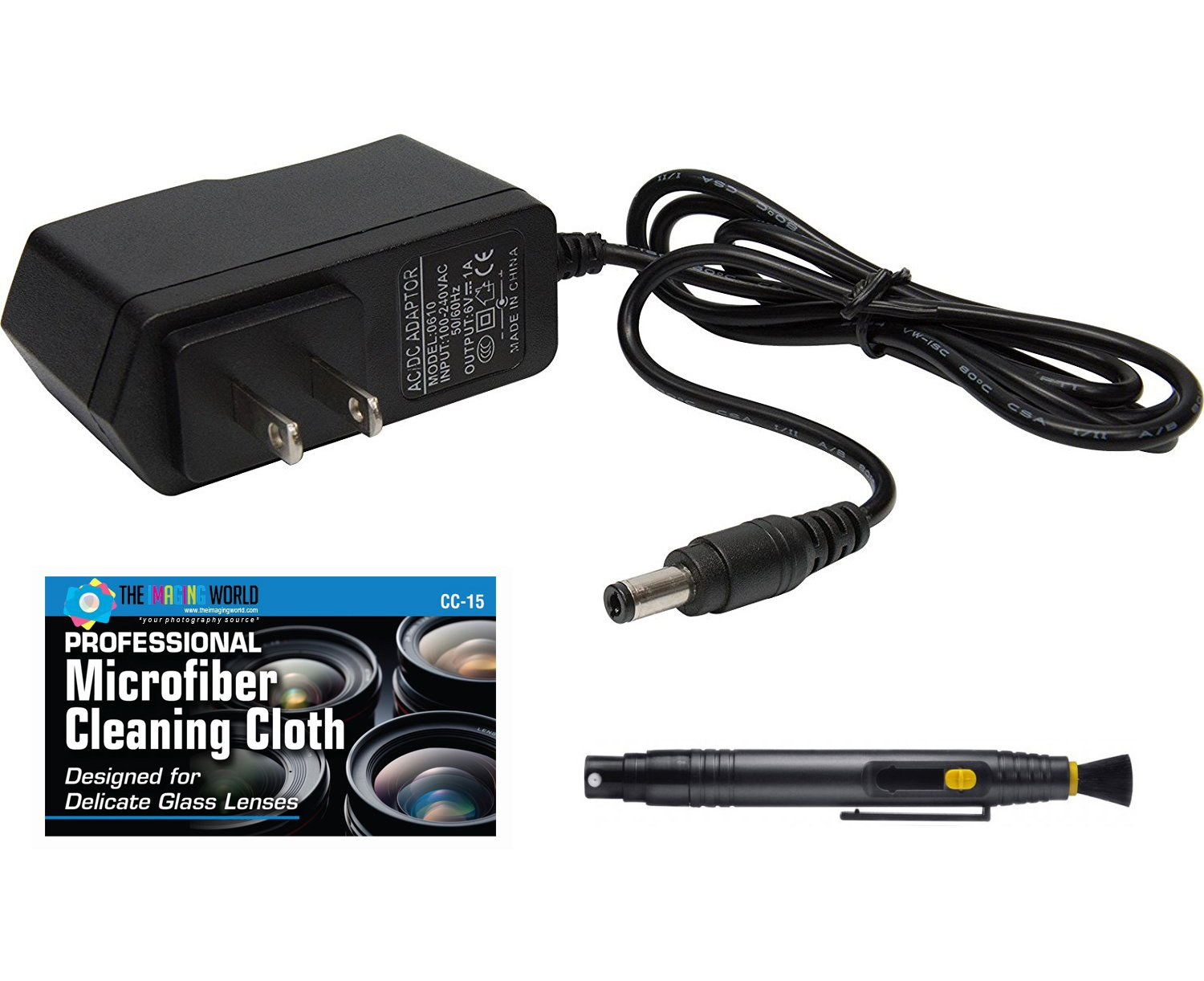 AC Adapter for SV-3 LED 35mm Film Slide and Negative Viewer + Cleaning Pen + Microfiber Cleaning Cloth