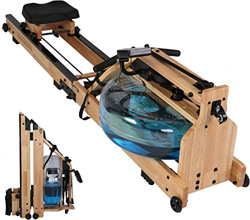 Vilobos Water Rowing Machine Heavy Duty Wooden Rower