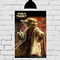 Placa Decorativa Mdf star wars mestre yoda 20cmx30cm