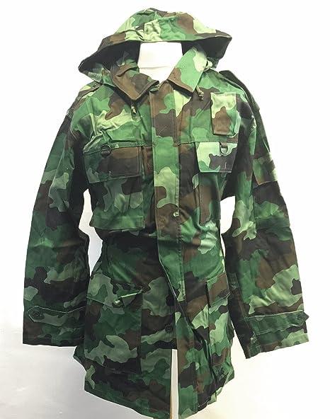 Serbian army surplus woodland camouflage combat field jacket NEW   Amazon.co.uk  DIY   Tools 0f30b03d6cfc
