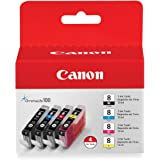 Canon (CLI-8) C/M/Y/K Ink Tank Combo Pack (Includes 1 Each of OEM# 0620B002, 0621B002, 0622B002, 0623B002)