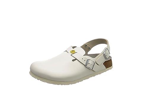 e0e90ad55416 Birkenstock 61418 37 – Narrow Footbed Shoe Tokio Anti-Static Natural Leather  – White