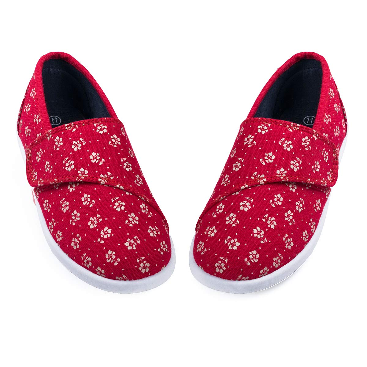 K KomForme Kids Slip on Canvas Sneakers Baby Toddler Girl and Boys Canvas Shoes