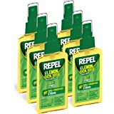 Repel Lemon Eucalyptus Natural Insect Repellent 4-Ounce Pump Spray, Case Pack of 6