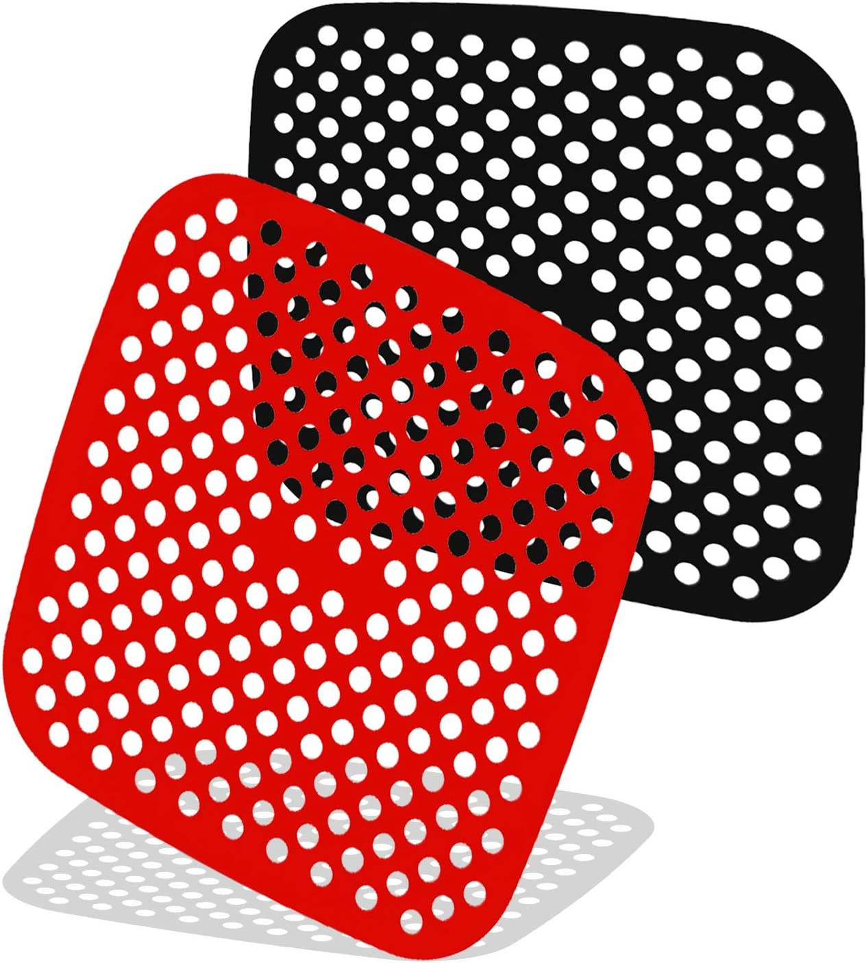 7.5 Inches Reusable Air Fryer Liners, 2Pcs Non-Stick Square Silicone Air Fryer Mats, Air Fryer Accessories Compatible With Philips, Cozyna, Secura, Nuwave, Power XL, Chefman, Gowise Usa, Cosori