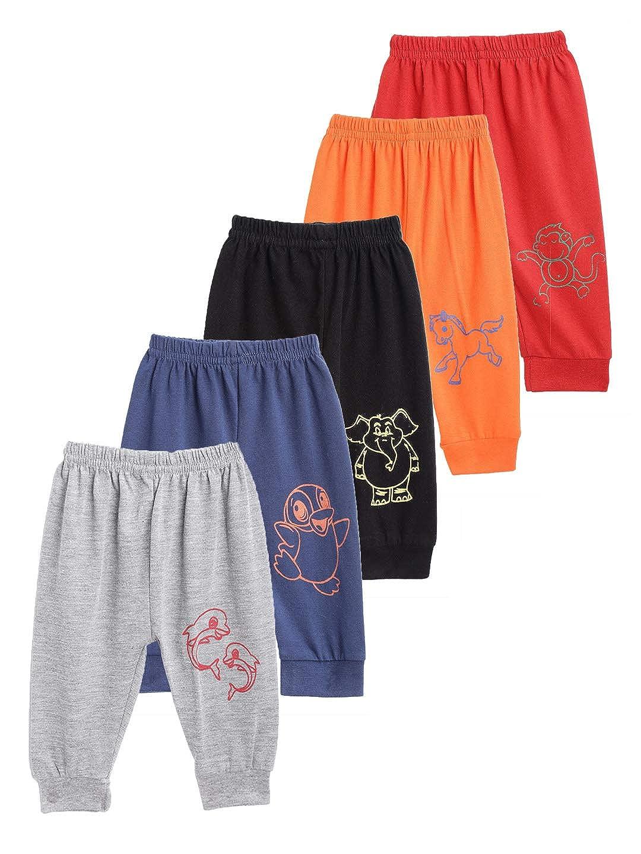 Kuchipoo Unisex Cotton Animal Print Pajama Bottom (Pack of 5)