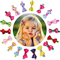 Ribbon Tiny Boutique Hair Bows Alligator Clips for Baby Girls Toddlers Kids Barrettes