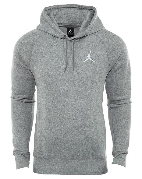 Nike para hombre Jordan Vuelo Pull Over Sudadera Con Capucha Gris Claro/Blanco 823066 –