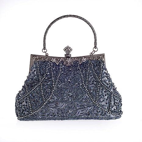 f1aec463a7da Amazon.com  Vintage Beaded and Sequined Women Evening Bag Evening ...