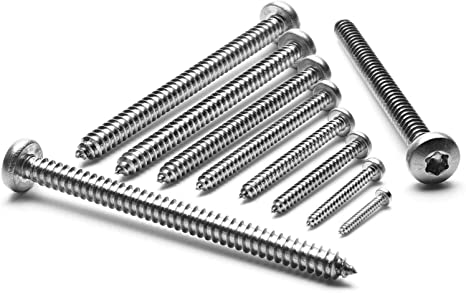Blechschrauben Flachkopf mit Scheibe TORX schwarz verzinkt DIN 7049 Auswahl 4,8 x 22 mm 100 St/ück